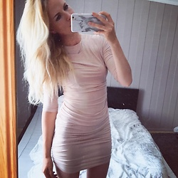 Kriste - Nly One Round Neck Slinky Dress - Instagram @kristetima
