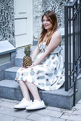 Anita Melodylaniella - Zaful Pineapple Dress, Renee Sneakers - Pineapple Princess
