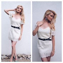 Cristina Gheiceanu - Haute And Rebellious Dress - Ivory crochet dress