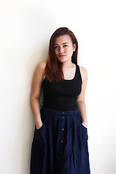 Shahani Lopez - Forever 21 Black Sleeveless Top, Terranova Button Down Skirt - We are who we wanna be