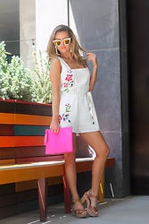 Amber Wilkerson - Guess Romper, Loeffler Randall Bag, Michael Kors Shoes - The Vacation Romper