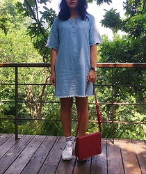 Christinachen - Zara Bag, H:Count Dress, Nike Shoes, Tissot Watch - Vacation