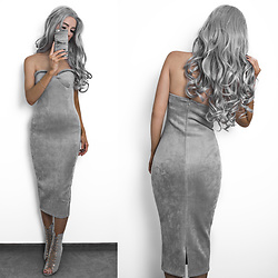 Oksana Orehhova - Oh Polly Dress - TOTALLY GREY