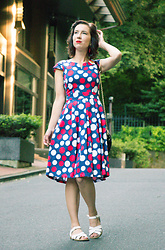 Lindsey Puls - Lilee Fashion Dress, Salt Water Sandals - Never Enough Polka Dots
