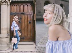 Kennie Cheng - Zara Offshoulder Shirt, Zara Bag - BRITISH SUMMER
