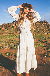 Alexe Bec - Spell Designs Blouse, Spell Designs Skirt, Filippo Catarzi Hat - The Living Desert.