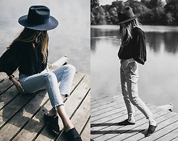 Bea G - Blouse, Jeans, Shoes, Hat - Girl By The Lake