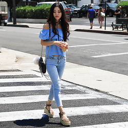 Yuzi Katrina - Dezzal Off Shoulder Top - Day at Santa Barbara