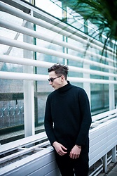 Alex Boyko - Pull & Bear Wool Basic Sweatshirt, Zara Basic Black Trousers, Asos Sunglasses - Hedonism