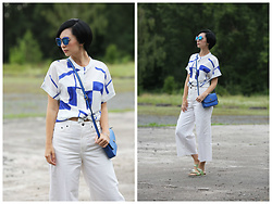 Aleksandra L. - Sammydress Shirt, H&M Pants, Credi Bag, Sammydress Sunglasses - BLUE MOOD