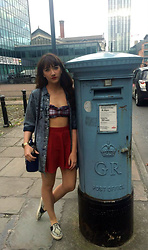 Charli E. - H&M Skater Skirt, Topshop Sneakers, Topshop Bralet - Liverpool Road