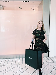 Katie Van Daalen Wetters - Fashionnova Army Dress, Jordan's Infrared 6's, Givenchy Pandora Bag - Current State of Mind