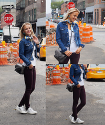 Susanne Bender - Vlieger & Vandam Bag, Zara Denim Jacket, Zara Necktie, Converse Sneakers - The perfect jacket!