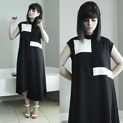 Lidia Zuin - Gamiss Black Long Dress - Four teeth