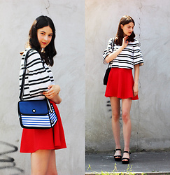 Nora Aradi - Jumpfrompaper Bag, Primark Shoes, H&M Skirt, Choies Shirt - Jump from reality