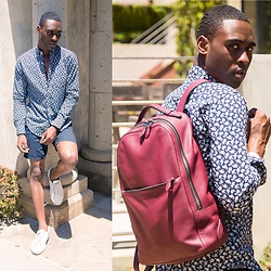 Willie Sparks - American Eagle Outfitters Shirt, H&M Shorts, Lacoste Sneakers, Coach Bag - Dazed