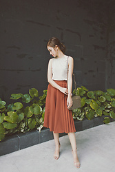 Tricia Gosingtian - Uniqlo Top, Murua Culottes, Lapalette Bag, Nine West Heels, Casio Sheen Shb 100 - 080616