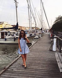 Mirella T. - Zara Dress, Lindex Sunnies, Vagabond Flats, Dkny Watch - Guest Harbour