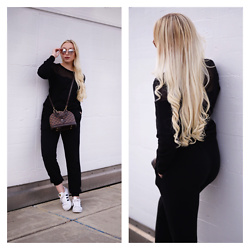 Vanessa Kandzia - Brandy Melville Usa Sweatpants, Adidas Sneakers - HOW TO WEAR SWEATPANTS AND STILL LOOK STYLISH
