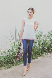 Tricia Gosingtian - Rebekah Top, Bobson Pants, Sm Parisian Heels, Louis Vuitton Bag - 061816