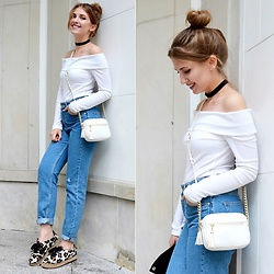 Sylwia Gocajna - Zara Jeans - Mom jeans&off the shoulder top