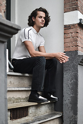 Bart Merks - Levi's® Vintage 501, Dr. Martens Black And White Leather Shoes, Zara White Polo - Waiting for a cloudless summer.