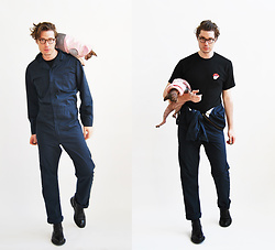 Matthew Reinhold - Gucci Boots, Dickies Jumpsuit, Stussy Tshirt, Stella Mccartney Glasses - Popular Mechanics