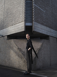 Mikko Puttonen - Chin Mens Top, H&M Trend Trousers, Jil Sander Shoes - GLOW