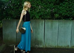Ju - Long Skirt, Black Neck Top, Espadrilles - Mermaid Lagoon