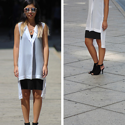 Dana Nguyen - Buffalo Exchange Sunglasses, Forever 21 Necklace, H&M Dress, Stylenanda Dress, Forever 21 Booties - Ghost