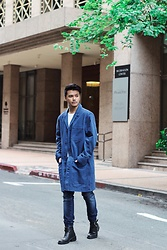 Michael Macalos - H&M Denim Coat, Zara Booties - For The Gloomy Weather