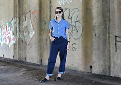 Angharad Jones - Han Kjobenhavn Sunglasses, Folk Shirt, Unknown Watch, Cos Jeans, Zara Shoes - Utilitarian