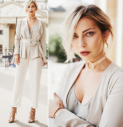 Masha Sedgwick - Hugo Boss Pants, Max & Co Blazer, Stella Mccartney Shirt - The Nude Look