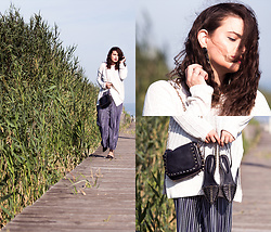 Jules - Zara Sweater, Zara Jumpsuit, H&M Earrings, Mango Bag, Zara Shoes - Weekend Getaway