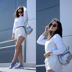 Sofija Lukjanska - Nike Huaraches, H&M Shorts, H&M Jumper, Pull & Bear Sunglasses, Mohito Backpack, Asos Watches - THE RIGHT MOMENT IS NOW