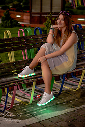 Anita Melodylaniella - House Bracelets, Zaful Pastel Dress, Renee Sneakers Disco Light - Disco Lights