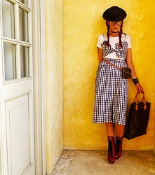 The wardrobe of Ms. B - Zara Dress, Miu Red Boots, Louis Vuitton Belt Bag - New post