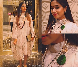 Surbhi Suri - Koovs Kaftan, Necklaces, Earrings - Kaftan & Semi precious jewellery