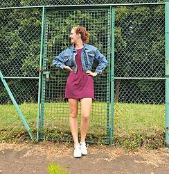 Charlotte Cocopop - Vintage Jacket, H&M Dress, New Look Shoes - Disclosure