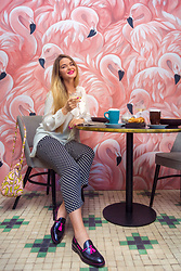 Natalia Romashko - H&M Blouse, Bimba&Lola Pants, Bimba&Lola Bag, Serfan Loafers - EVERYDAY LUXURY
