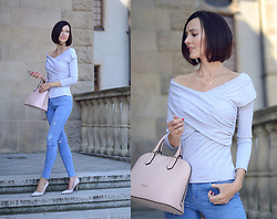 Daisyline . - Coccinelle Bag, Mosquito Top, Zara Jeans - Off The Shoulder / www.daisyline.pl