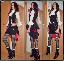 Lena Rawk - Alice In Wonderland Merch Through The Looking Glass Mad Hatter Military Vest - We are all MAD here!