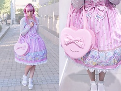 Soyeon Choi - Bodyline Carousel Jsk, H&M Lace Top, Made Myself Hair Accessories, Angelic Pretty Heart Bag, Sammydress Platform Sandals - Sweet carousel
