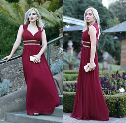 Scarlett Vargas - Everpretty Gown - Burgundy love