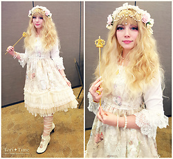 Tori - Baby The Stars Shine Bright Ave Maria ~Heavenly Princess And Madonna Lily, Baby The Stars Shine Bright Alice Bruges Blouse, Baby The Stars Shine Bright Lace Frill Petticoat, Baby The Stars Shine Bright Lace Up Dot See Through Otks, Lockshop Wigs Cascade, Baby The Stars Shine Bright Crown Scepter, Momo Victorian Bootie - Ave Maria