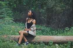 Jorshua - Forever 21 Dress, Urban Outfitters Military Jacket, Converse Sneakers - Growth
