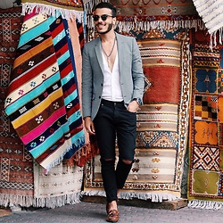 Badr Daou - Paul & Joe Blazer, Fossil Watch, Zara Shoes - Morocco #2