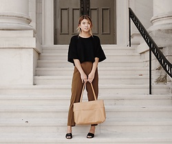 Chloe Hall - Hobo Bag, Nisolo Heels, J. Crew Pants, Corinne Collection Top - CORINNE CROP