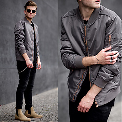 Stilysto By Andrzej S. - Review Bomber, Review Black Jeans, Zalando Boots - Goodbye Summer