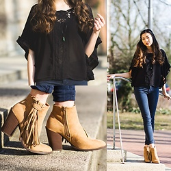 Thuy - Stradivarius Top, C&A Boots With Fringes, Forever 21 Jeans - Indian Summer